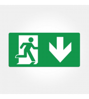 Eterna Iso Down Arrow Legend For Emergency Exit Boxes (Green)