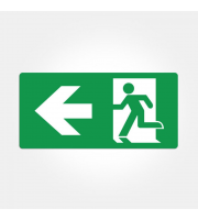 Eterna Iso Left Arrow Legend For Emergency Exit Boxes (Green)