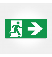 Eterna Iso Right Arrow Legend For Emergency Exit Boxes (Green)