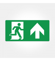 Eterna Iso Up Arrow Legend For Emergency Exit Boxes (Green)