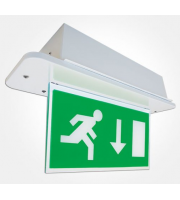 Eterna Recessed Led Emergency With Dropdown Sign