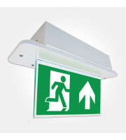 Eterna Iso Recessed Led Emergency With Dropdown Sign (White)