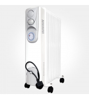 Eterna 2kW Oil Filled Heater With Timer (White)