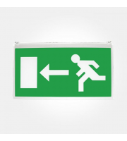 Eterna Left/right Sign For Recessed Emergency Fitting (Green)