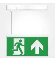 Eterna Iso Led Emergency Exit Drop Sign (White)