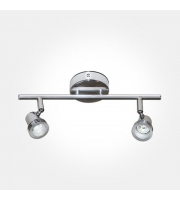 Eterna GU10 Twin Spotlight Bar (Polished Chrome)