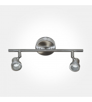 Eterna GU10 Twin Spotlight Bar (Brushed Nickel)