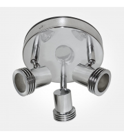 Eterna GU10 Triple Spotlight Plate (Polished Chrome)