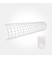 Eterna 1FT Rounded Wire Guard For Tubular Heater (White)