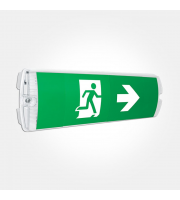 Eterna Economy Led Emergency Bulkhead With Legend Stickers (White)