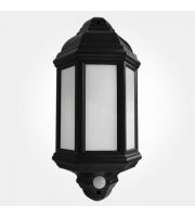 Eterna 7W Led Half Lantern Pir (Black)