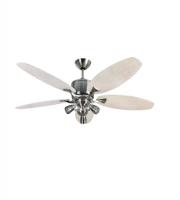 Fantasia Delta RD 52 Inch Low Energy Ceiling Fan with Sorrento LED Light (Brushed Nickel and Maple)