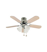 Fantasia Capri Combi 36 Inch Ceiling Fan Light (Matt Washed Oak)