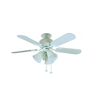 Fantasia Capri Combi 36 Inch Ceiling Fan Light (Matt White)
