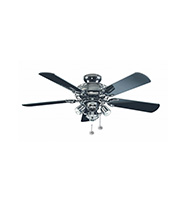 Fantasia Gemini 42 Inch Ceiling Fan Light (Gloss Black)