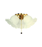 Fantasia Etched 3 Light Ceiling Fan Kit (Polished Brass)
