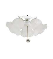 Fantasia Etched 3 Light Ceiling Fan Kit (White)