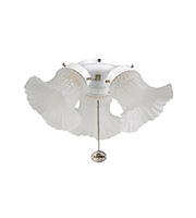 Fantasia Tulip 3 Light Ceiling Fan Kit (White)