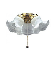 Fantasia Tulip 3 Light Ceiling Fan Kit (Polished Brass)