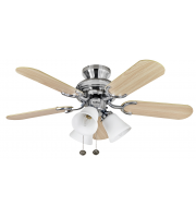 Fantasia Capri Combi 36 Inch Ceiling Fan with Light Ss/belmont Light Kit (Stainless steel)