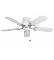 Fantasia Capri 36 Ceiling Fan without Light (White & Ss)