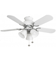 Fantasia Capri Combi 36 Inch Ceiling Fan with Light (White & Ss/belmont Light Kit)