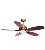 Fantasia Phoenix 42 Inch Ceiling Fan with Light (Antique Brass With Mahogany Blades)