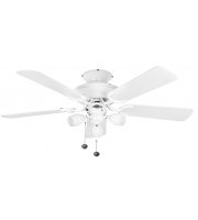 Fantasia Mayfair Combi 42 Inch Ceiling Fan with Light (White/amorie Light Kit)