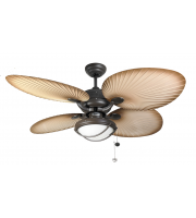 Fantasia Palm Combi 52 Inch Ceiling Fan with Light (Chocolate Brown/patio Light Kit)