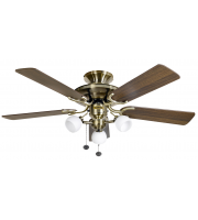 Fantasia Mayfair Combi 42 Inch Ceiling Fan with Light Florence Light Kit  (Ab/dark Oak Blades)