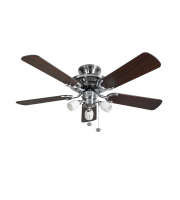 Fantasia Mayfair Combi 42 Inch Ceiling Fan with Light /amorie Light Kit  (Ss/dark Oak Blades)