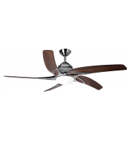 Fantasia Viper 44 Inch Ceiling Fan with LED Light (Ss With Dark Oak Blades)