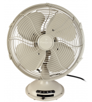 Fantasia Vintage Desk Fan (Cream)