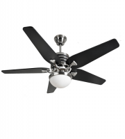 Fantasia Omega CS 52 Inch Low Energy Ceiling Fan with Aries Light (Brushed Nickel and Black)