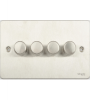Schneider Electric 4 Gang 2 Way 250W Dimmer Switch (Stainless Steel)