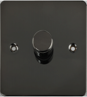 Schneider Electric GET Ultimate Flat Plate 1 Gang 2 Way 400W Dimmer Switch (Black Nickel)