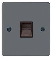 Schneider Electric GET Ultimate Flat Plate Single Telephone Master (Black Nickel)