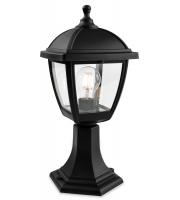 Firstlight 2817BK Palma 4 Panel Pillar Lantern (Black)