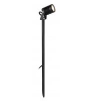 Firstlight 2832BK IP65 Long Pole Black LED Garden Spike Light