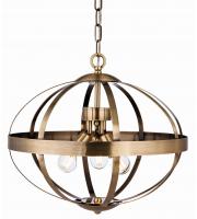 Firstlight 3709AB Healey 3 Light Ceiling Pendant in Antique Brass Finish