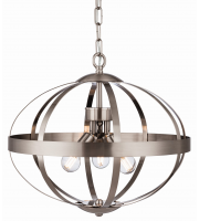 Firstlight 3709BS Healey 3 Light Ceiling Pendant in Brushed Steel Finish