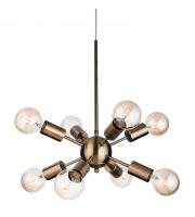 Firstlight 3710AB Alfa 8 Light Ceiling Pendant in Antique Brass Finish