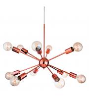 Firstlight 3711CP Alfa 12 Light Ceiling Pendant in Copper Finish