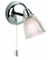 Firstlight 3747CH Echo Single Light Wall Fitting in Polished Chrome Finish