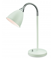 Firstlight 3752WH Bari Single Light Table Lamp in White Finish with Chrome