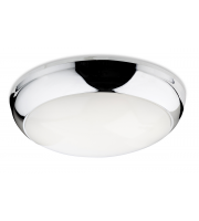Firstlight 4912CH Regis LED Flush Ceiling Light In Chrome With Polycarbonate Opal Diffuser