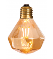 Firstlight 4918 Decorative LED Vintage Filament Bulbs with Amber Glass (4W Edison Screw)
