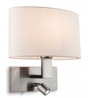 Firstlight Webster 4937BS Wall Light with Cream Shade