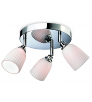 Firstlight Metro 3 Light Flush Bathroom Ceiling Fitting In Polished Chrome Finish With White Porcelain Shades
