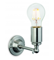 Firstlight Indy Single Light Wall Fitting In Brushed Steel Finish